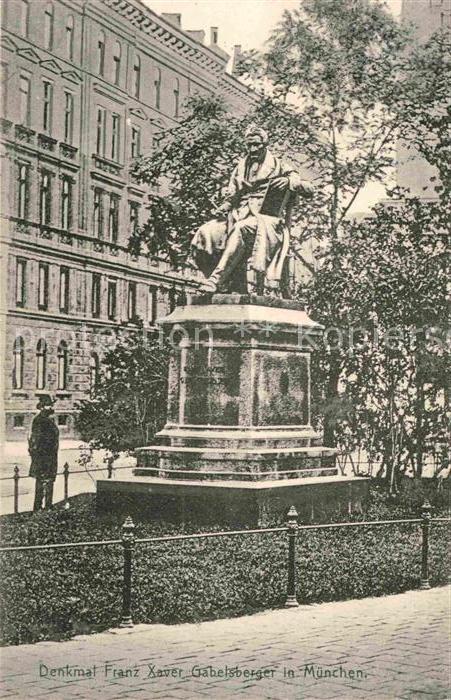 AK / Ansichtskarte Muenchen Denkmal Franz Xaver Gabelsberger Kat. Muenchen