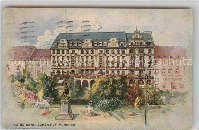 AK / Ansichtskarte Muenchen Hotel Bayerischer Hof Kat. Muenchen