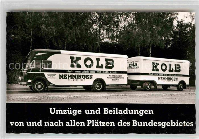 AK / Ansichtskarte Memmingen Umzugswagen der Firma Kolb Kat. Memmingen