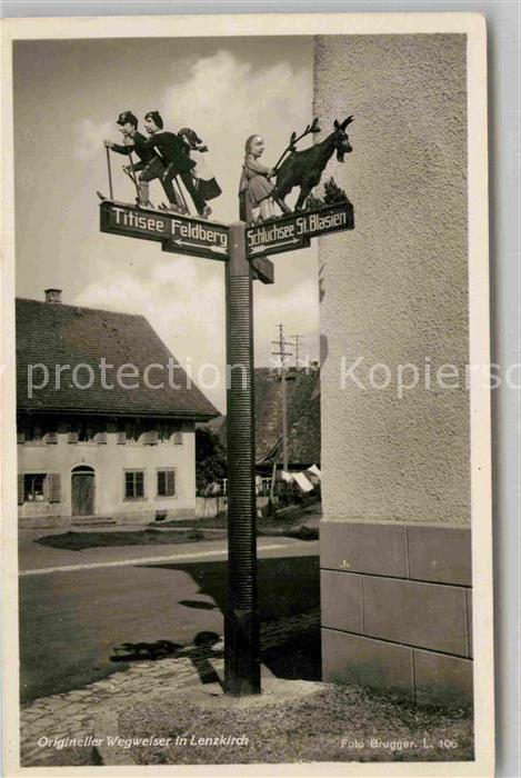 AK / Ansichtskarte Lenzkirch Origineller Wegweiser Kat. Lenzkirch