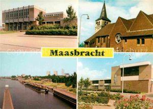 AK / Ansichtskarte Maasbracht Rathaus Kirche Frachter