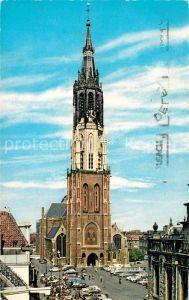 AK / Ansichtskarte Delft Markt met Nieuwe Kerk Kat. Delft