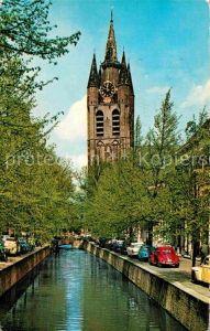 AK / Ansichtskarte Delft Oude Delft met Oude Kerk Kat. Delft