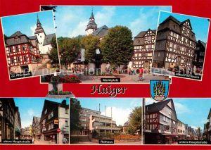 AK / Ansichtskarte Haiger Ev Pfarrhaus Marktplatz Haus Fischbach Hauptstrasse Rathaus  Kat. Haiger