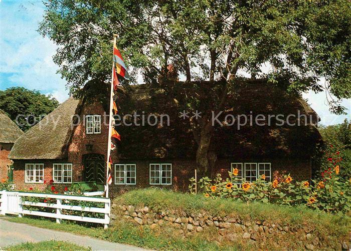 Sylt Reetdachhaus ak ansichtskarte keitum sylt altes friesenhaus reetdachhaus