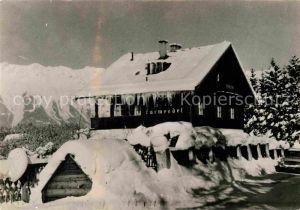 AK / Ansichtskarte Igis Pension Haus Karwendel im Winter Kat. Igis