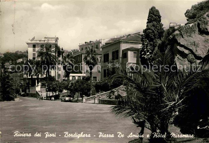 AK / Ansichtskarte Bordighera Piazza de Amicis e Hotel Miramare Kat. Bordighera