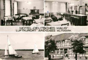 AK / Ansichtskarte Arendsee Altmark Hotel Deutsches Haus  Kat. Arendsee