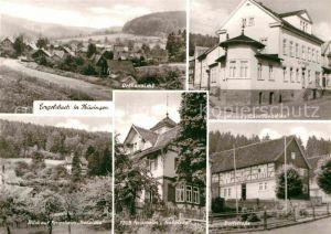 AK / Ansichtskarte Engelsbach Ortsansicht Gasthaus Zum Paradies FDGB Ferienheime Dorfstrasse Kat. Leinatal
