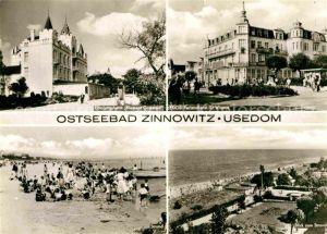 AK / Ansichtskarte Zinnowitz Ostseebad Erholungsheim Klement Gottwald FDGB Feriendienst IG Wismut Strand