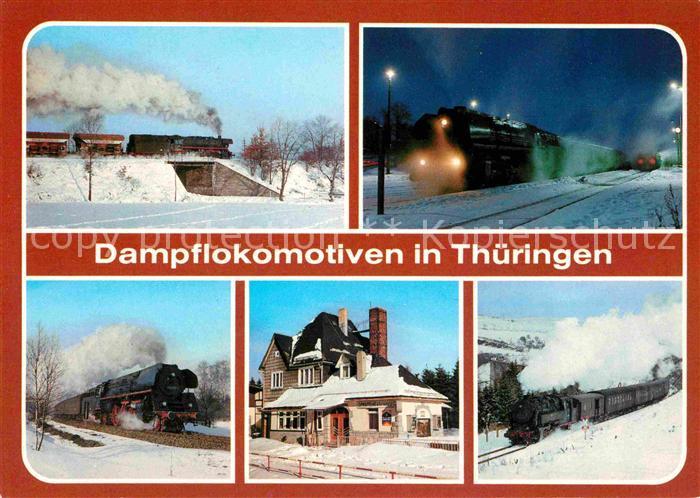AK / Ansichtskarte Lokomotive Dampflokomotiven Triptis Bahnhof Weida Bahnhof Ernstthal  Kat. Eisenbahn