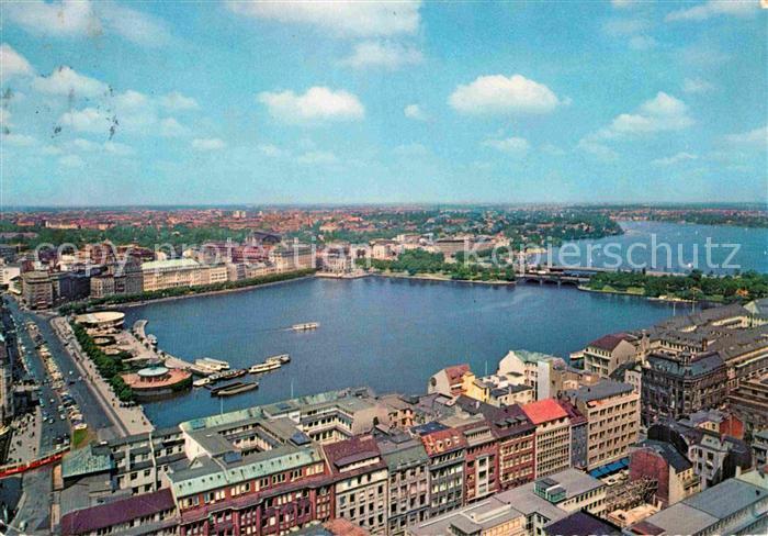AK / Ansichtskarte Hamburg Binnen  und Aussenalster Kat. Hamburg