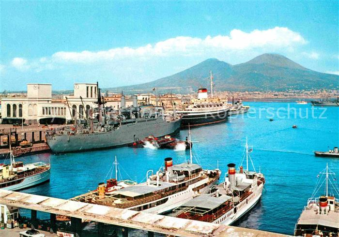 AK / Ansichtskarte Napoli Neapel Hafen Vesuv Kat. Napoli