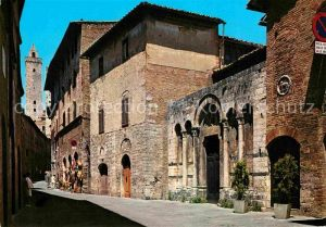 AK / Ansichtskarte San Gimignano Via San Giovanni Chiesa San Francesco