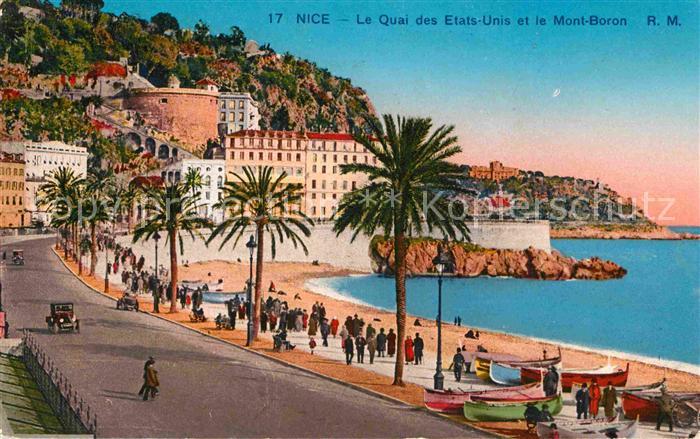 AK / Ansichtskarte Nice Alpes Maritimes Le Quai des Etats Unis et le Mont Boron Kat. Nice