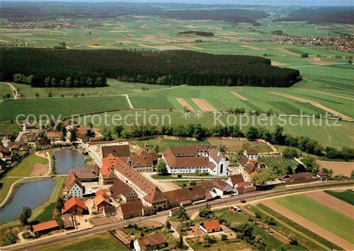 AK / Ansichtskarte Riedlingen Wuerttemberg Heiligkreuztal Fliegeraufnahme Kat. Riedlingen
