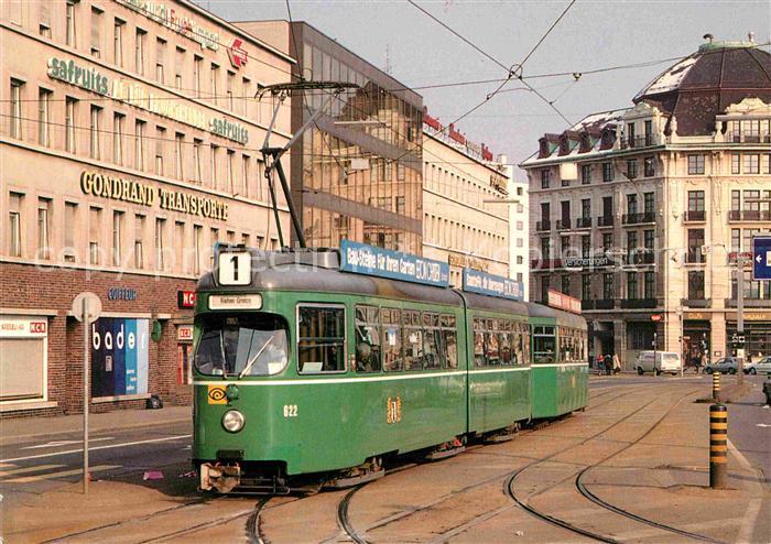 AK / Ansichtskarte Strassenbahn Basel Haltestelle Markthalle  Kat. Strassenbahn