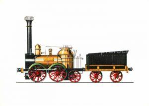 AK / Ansichtskarte Lokomotive Saxonia 1839 Zeichnung Swoboda Kat. Eisenbahn
