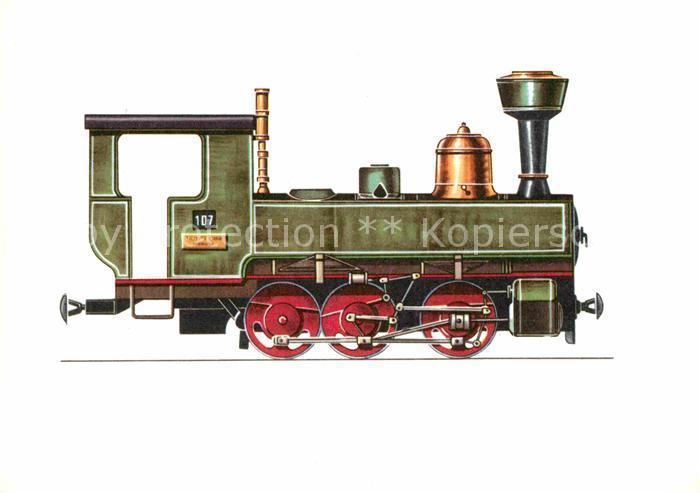 AK / Ansichtskarte Lokomotive Tender Lokomotive 1893 Zeichnung Swoboda  Kat. Eisenbahn