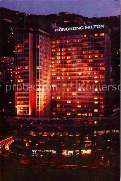 AK / Ansichtskarte Hongkong Hilton Hotel at night Kat. China