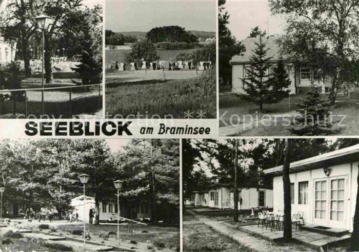AK / Ansichtskarte Zechlin Flecken Seeblick am Braminsee Bungalows