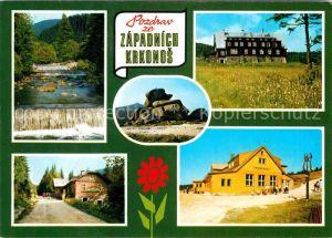 AK / Ansichtskarte Krkonose Kaskady Mumlavy Chata Dvoracka Tvaroznik Mumlavska chata Vosecka bouda Riesengebirge Kat. Polen