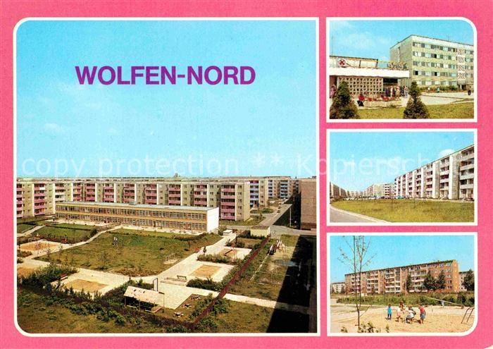 AK / Ansichtskarte Wolfen Bitterfeld  Neubauviertel Nord Strasse der Jugend Spielplatz Kat. Bitterfeld