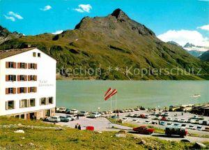 AK / Ansichtskarte Silvretta Hochalpenstrasse Bieler Hoehe Stausee Piz Buin Rad Kat. Gaschurn