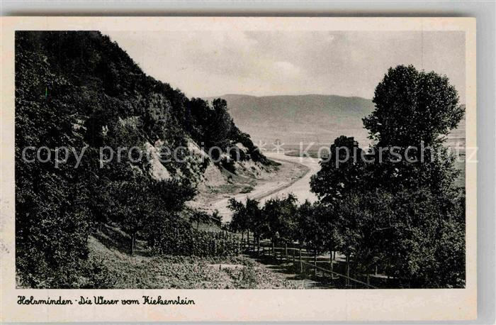 AK / Ansichtskarte Holzminden Weser Kiekenstein Panorama Kat. Holzminden