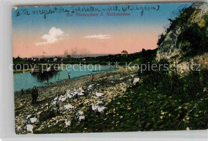 AK / Ansichtskarte Holzminden Weser Kiekenstein Dampfer Kat. Holzminden