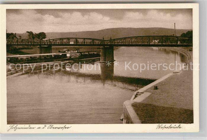 AK / Ansichtskarte Holzminden Weser Weserbruecke Dampfer Kat. Holzminden