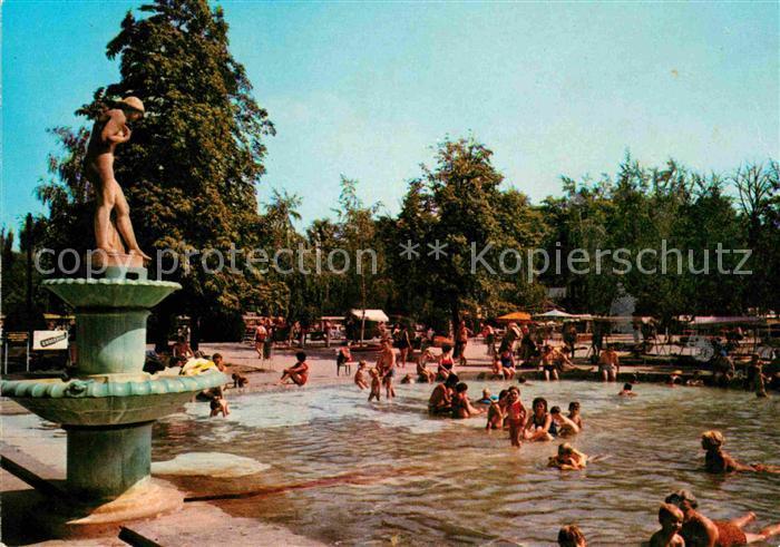 AK / Ansichtskarte Harkanyfuerdo Strandpartie