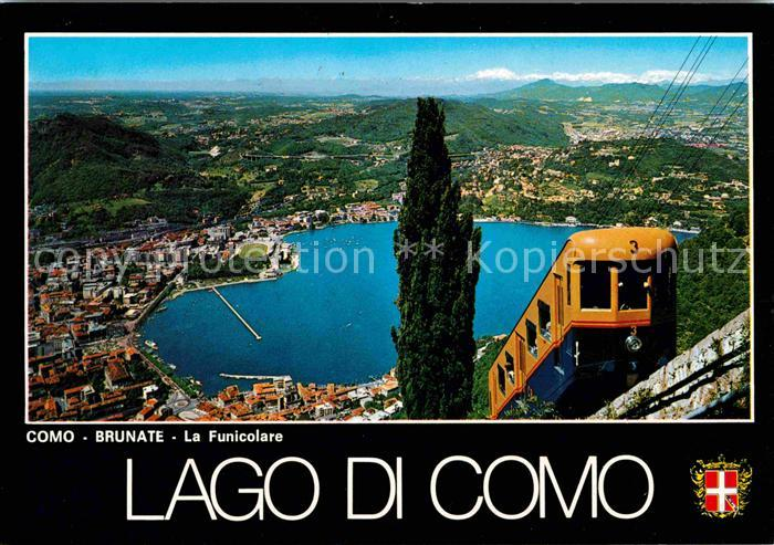 AK / Ansichtskarte Brunate Como Panorama Drahtseilbahn Kat. Como
