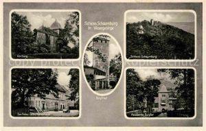 AK / Ansichtskarte Schaumburg Rinteln Vorburg Burgfried Schloss Schaumburg Altes Herrenhaus aeusseres Burgtor Kat. Rinteln