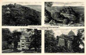 Schaumburg Rinteln Schloss Schaumburg nach einem alten Stich aeusseres Burgtor Vorburg Kat. Rinteln
