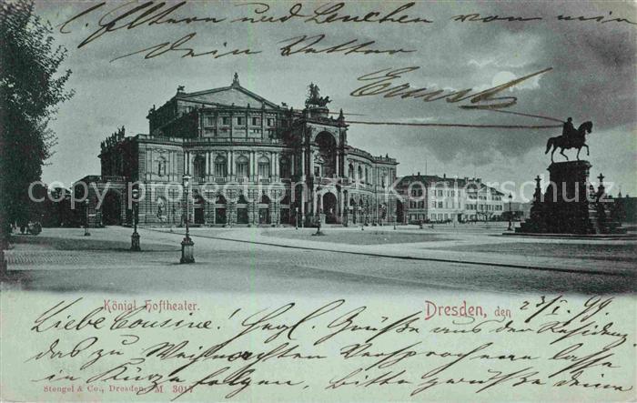 Dresden Koenigliches Hoftheater Kat. Dresden Elbe