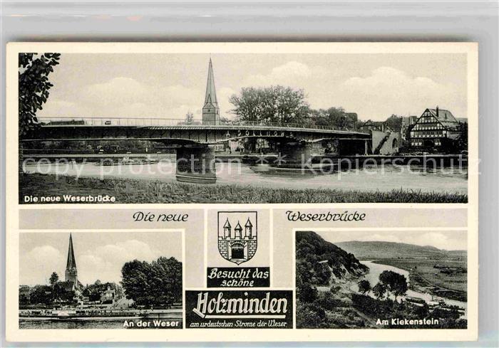 AK / Ansichtskarte Holzminden Weser Neue Weserbruecke Kiekenstein Weser Kat. Holzminden