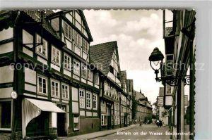 AK / Ansichtskarte Rinteln Weser Baeckerstrasse Kat. Rinteln