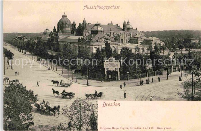 AK / Ansichtskarte Dresden Ausstellungspalast Kat. Dresden Elbe