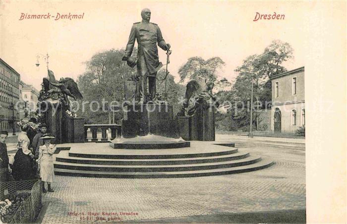 AK / Ansichtskarte Dresden Bismarck Denkmal  Kat. Dresden Elbe