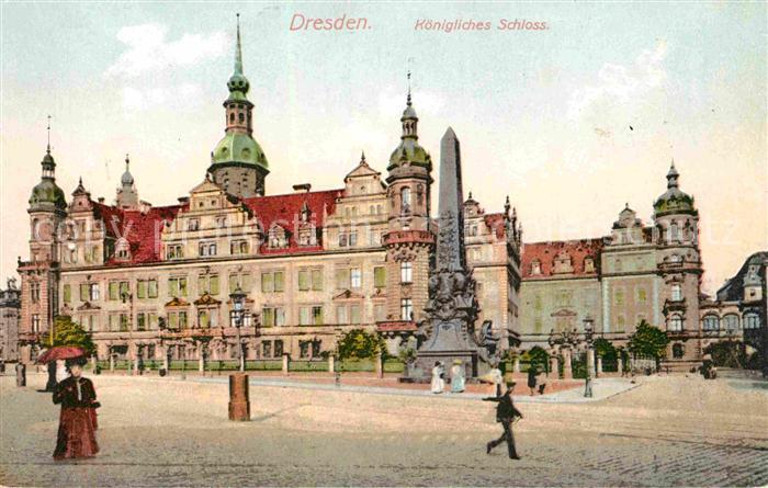 AK / Ansichtskarte Dresden Koenigliches Schloss Koenigliches Schloss Kat. Dresden Elbe