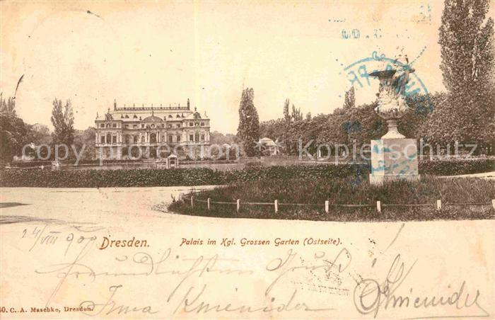 AK / Ansichtskarte Dresden Palais Grosser Garten Kat. Dresden Elbe
