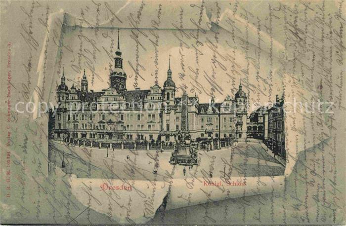 AK / Ansichtskarte Dresden Koenigliches Schloss Kat. Dresden Elbe