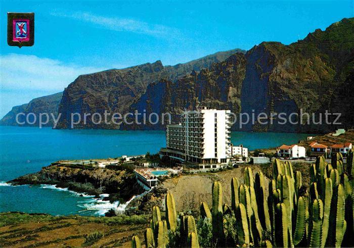 AK / Ansichtskarte Puerto Santiago Tenerife Acantilado y Hotel Los Gigantes Panorama Steilkueste