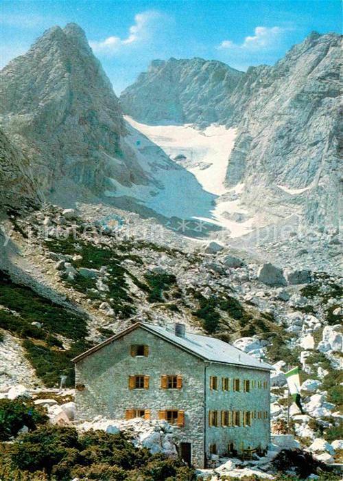 AK / Ansichtskarte Blaueishuette Blaueisspitze Gletscher Berchtesgadener Alpen Kat. Hochkalter Ramsau
