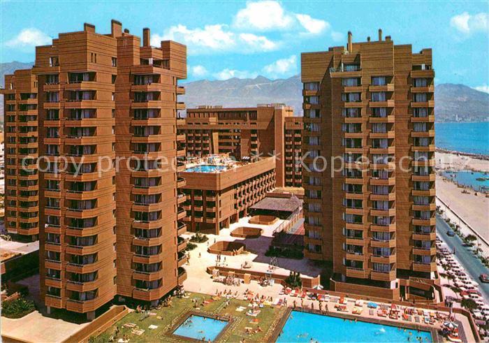 AK / Ansichtskarte Fuengirola Costa del Sol Vista general de Las Palmeras Hotels Strand Kat. Spanien