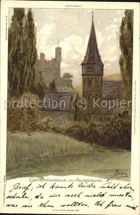 Trechtingshausen Clemenskapelle und Falkenburg /  /