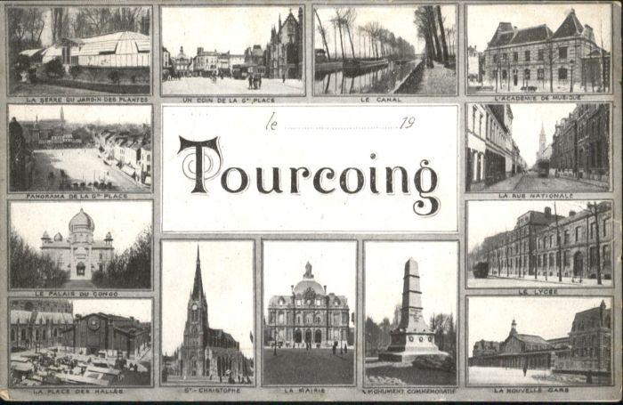 Tourcoing Canal Acadmie Musique Rue Nationale Gare Bahnhof  x