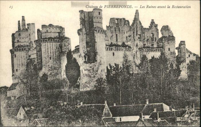 Pierrefonds Chateau Ruines  *