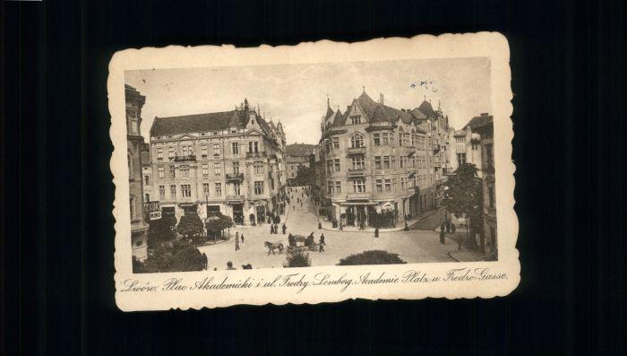Lwow Lemberg Academie Platz Fredro-Gasse *